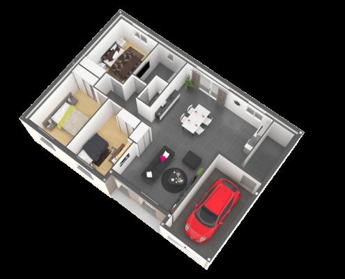 Plan maison plain-pied