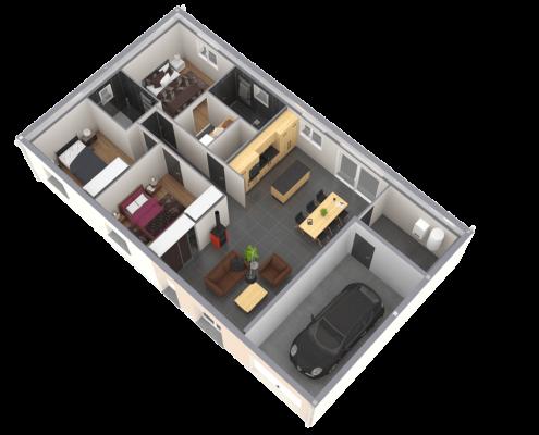Maison sur plan